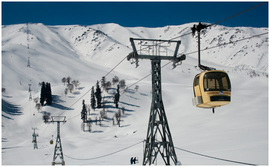Gulmarg Ski - Up we go Image
