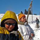 Local Kids Skking in Gulmarg