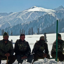 Army relaxing in Gulmarg