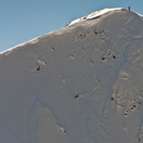 Skiing some steep - Shark Fin Gulmarg