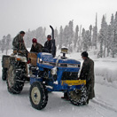Garbage removal in Snowy Gulmarg